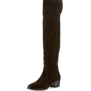 New Frye Clara Boots Over the knee Slouch brown 7